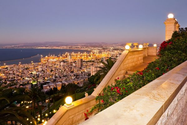 view from mount carmel to port and haifa